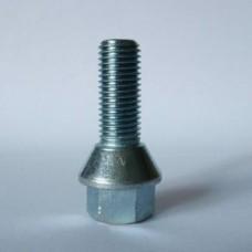 Болт колесный М12х1.25х25 мм. Конус. Цинк. Ключ 17