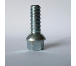Болт колесный М12х1.5х28 мм. Сфера. Цинк. Ключ 17