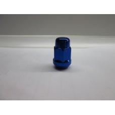 Гайка колесная М12х1.25х35 мм. Конус. Синий Хром. Закрытая. Ключ 19